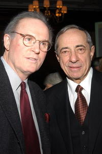 Charles Grodin and Governor Mario Cuomo at the National Mentoring Month reception at the Harvard Club.
