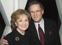 Charles Grodin and Matilda Cuomo at the party to celebrate his publication of