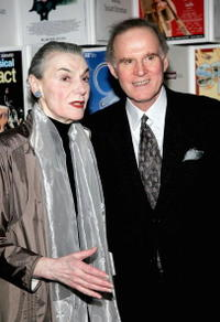 Charles Grodin and Marian Seldes at the Primary Stages Gala benefit dinner honoring Tony Award winning director/choreographer Susan Stroman at Tavern.