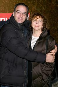 Mandy Patinkin and Kathryn Grody at the party of the New York opening night of