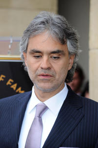 Andrea Bocelli at the Hollywood Walk Of Fame in California.