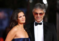 Veronica Berti and Andrea Bocelli at the premiere of