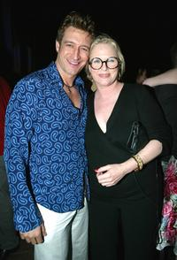 Robert Gant and Sharon Gless at the after party of the fourth season premiere of