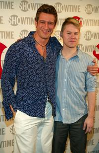 Robert Gant and Randy Harrison at the fourth season premiere of