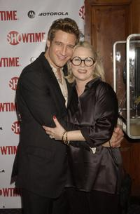 Robert Gant and Sharon Gless at the premiere of the fourth season of
