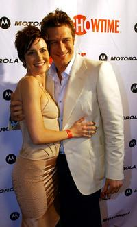 Michelle Clunie and Robert Gant at the premiere of