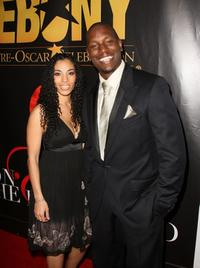 Tyrese Gibson and his wife at the Ebony Magazine Pre-Oscar Celebration-Take 4.