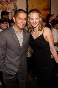 Jay Hernandez and his girlfriend Daniela Deutscher at the premiere of