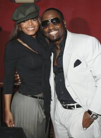 Janet Jackson and Johnny Gill at the Johnny Gill's 40th birthday celebration.