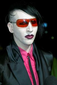Marilyn Manson at the block party in celebration of the opening of three Marc Jacobs stores.