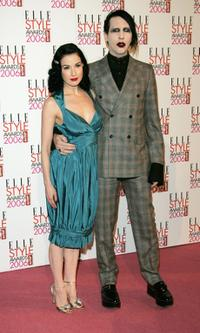 Dita Von Teese and Marilyn Manson at the ELLE Style Awards 2006.