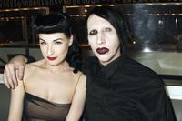 Dita Von Teese and Marilyn Manson at the opening of MR CHOW Tribeca.