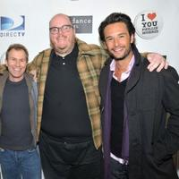 Producer Andrew Lazar, John Requa and Rodrigo Santoro at the premiere of