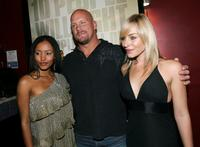 Emelia Burns, Stone Cold Steve Austin and Tory Mussett at the special screening of