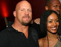 Stone Cold Steve Austin and Emelia Burns at the after party of the special screening of