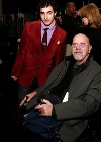Zac Posen and Chuck Close at the Zac Posen fashion show during the Olympus Fashion Week.