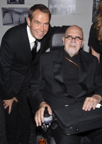 Jeff Koons and Chuck Close at the MoMA's 39th Annual Party.