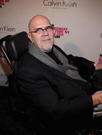 Chuck Close at the grand reopening of the New Museum hosted by Calvin Klein Collection.