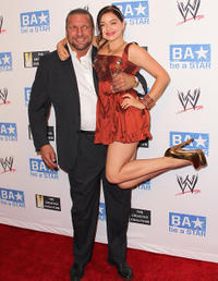 Triple H and Ariel Winter at the WWE and The Creative Coalition's