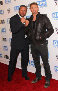 Triple H and Kellan Lutz and Ariel Winter at the WWE and The Creative Coalition's