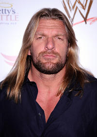 Triple H at the WWE's SummerSlam Kickoff party in California.