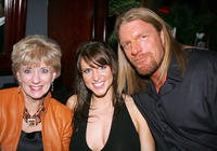 Linda Mcmahon, Stephanie Mcmahon and Triple H at the after party of the California premiere of