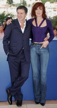 Daniel Auteuil and Sabine Azema at the 58th edition of the Cannes International Film Festival.