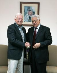President Jimmy Carter and Mahmoud Abbas at the Muqata compound.