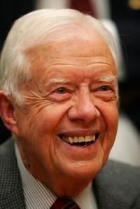 President Jimmy Carter at the promotion of his new book