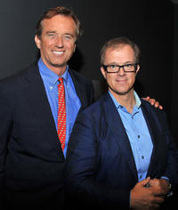 Robert F. Kennedy Jr. and Bill Haney at the Apple Store Soho Presents Meet The Filmmakers: The Last Mountain in New York.