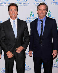 California Governor Arnold Schwarzenegger and Robert F. Kennedy Jr. at the 2010 Riverkeeper Benefit at Pier Sixty in New York.