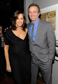Designer Donna Karan and Robert F. Kennedy Jr. at the Hope Help & Relief Haiti