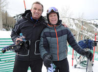 Robert F. Kennedy Jr. and skier Tommy Moe at the Day 2 of 19th Annual Deer Valley Celebrity Skifest.