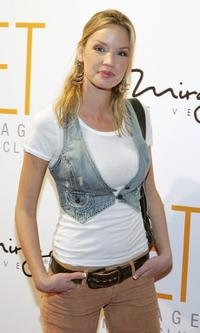 Ashley Scott at the grand opening of Jet Nightclub.