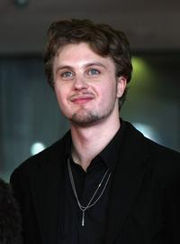 Michael Pitt at the closing ceremony promoting