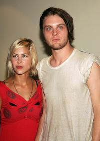 Nicole Vicius and Michael Pitt at the premiere of