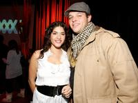 Stephanie Andujar and Daniel Franzese at the William Morris Agency Independent Sundance Party.