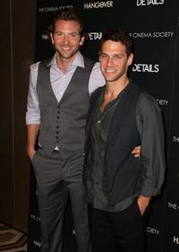Bradley Cooper and Justin Bartha at the screening of