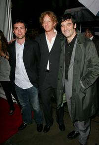 Joe Lo Truglio, A.D.Miles and Mather Zickel at the premiere of