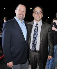 Marc Shmuger and David Wain at the premiere of