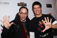 David Wain and Ken Marino at the premiere party of