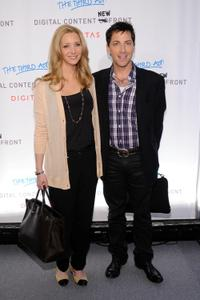 Lisa Kudrow and producer Dan Bucatinsky at the Digital Content Newfront Conference.