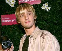 Aaron Carter at the launch of the T-Mobile Sidekick 3.