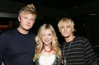 Nick Carter, Shirly Brener and Aaron Carter at the Howie Dorough of the Backstreet Boys and Promoter Dave Ockun Birthday Celebration party.