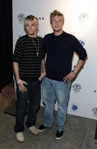 Aaron Carter and Nick Carter at the Howie Dorough of the Backstreet Boys and Promoter Dave Ockun Birthday Celebration party.