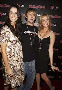 Bobbie Jean Carter, Aaron Carter and Angel Carter at the Rolling Stone Magazine's