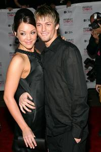 Aaron Carter and Kaci Brown at the 33rd Annual People's Choice Awards.