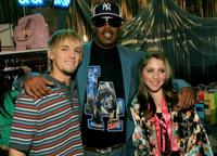 Aaron Carter, Master P and Forrest Lipton at the 20th annual Kid's Choice Awards.