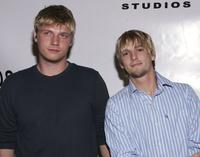 Nick Carter and Aaron Carter at the First Look Studios in association with Samsung premiere