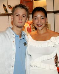 Aaron Carter and Jaci Reid at the Asprey's shopping event.